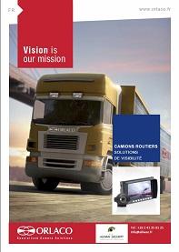 Caméra vision arrière et avant poids lourd, rétrovisuer, orlaco france certifié adr