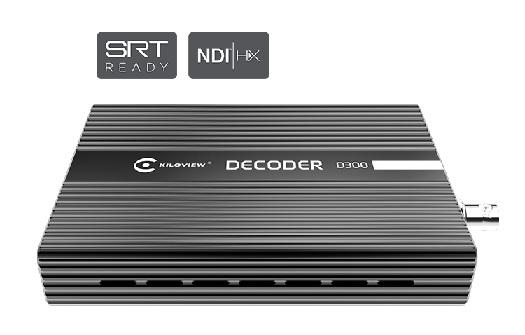 D300 decodeur kiloview IP vers SDI HDMI 4K UHD 4k NDI rtsp audio