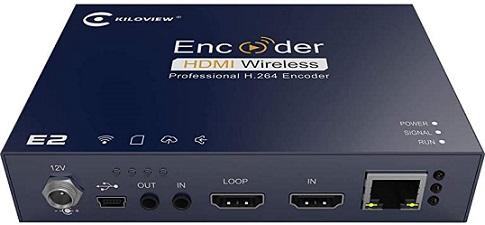 E2 encodeur codeur HDMI loop sur IP RTSP RTP ONVIF RTMP broadcast et surveillance video