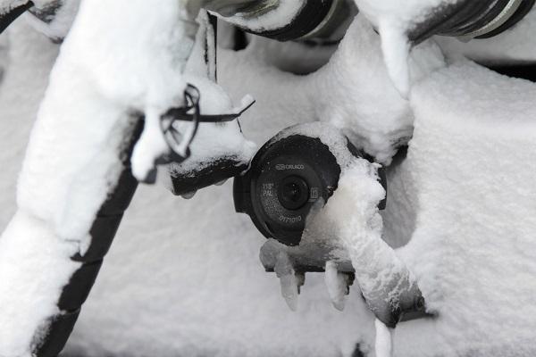 caméra arrière orlaco avec chauffage thermorégulé anti givre gel neige