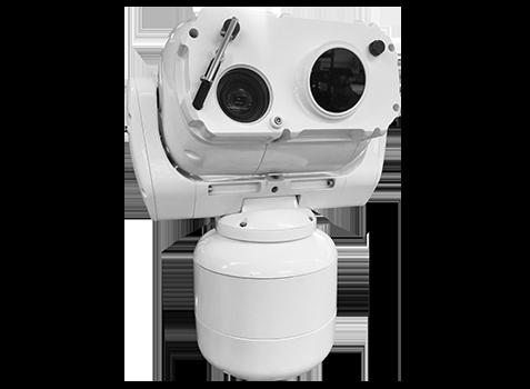 Camera motorisee ptz marine surveillance périmétrique longue portée 10km 20km militaire bateau silent sentinel AERON SEARCHER